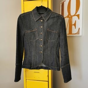 Mexx US S gray/blue fitted denim jacket